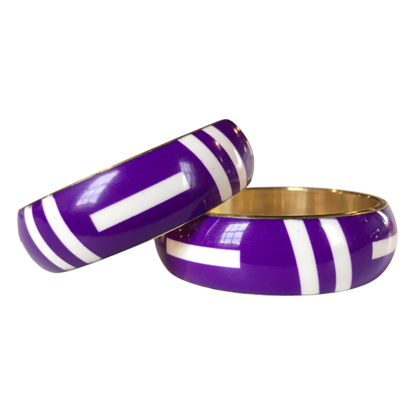 'Ramonda' Tribal Bangle- Purple