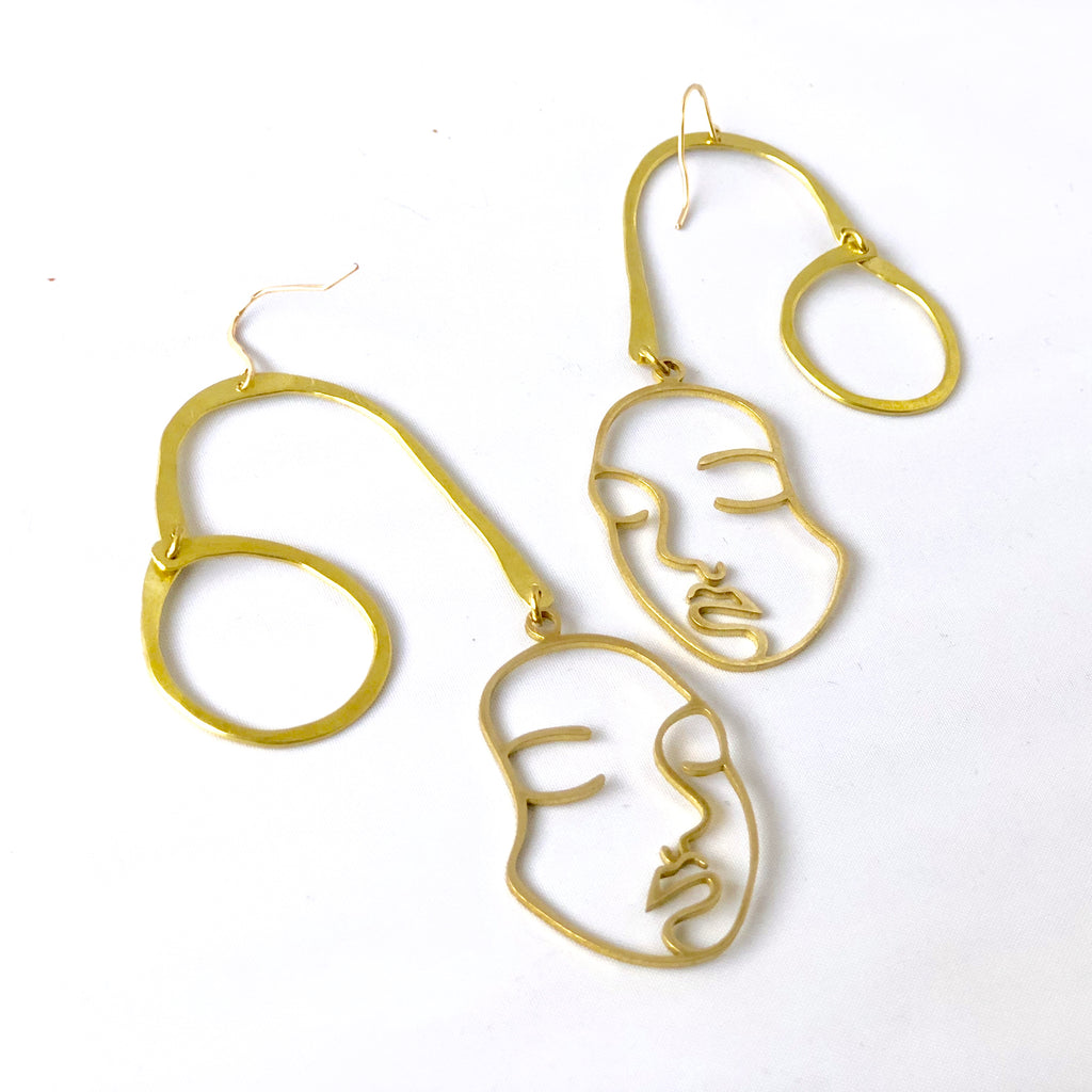 FACE OFF EARRINGS