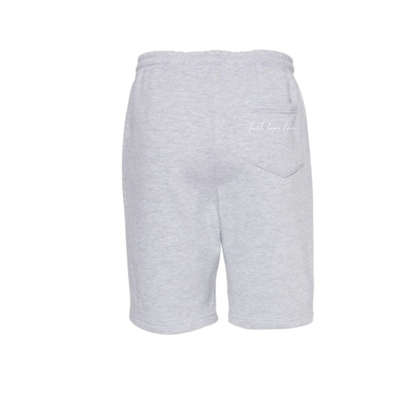 faith hope love - UNISEX -  bermuda shorts- grey heather -