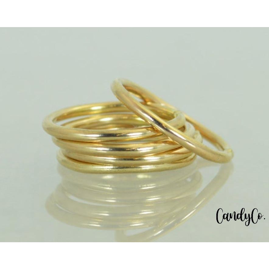 Gold Stainless Steel Midi Stacking Ring