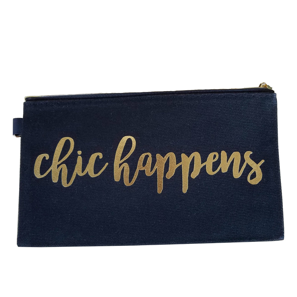 Chic Happens Black Makeup and Accessory Bag