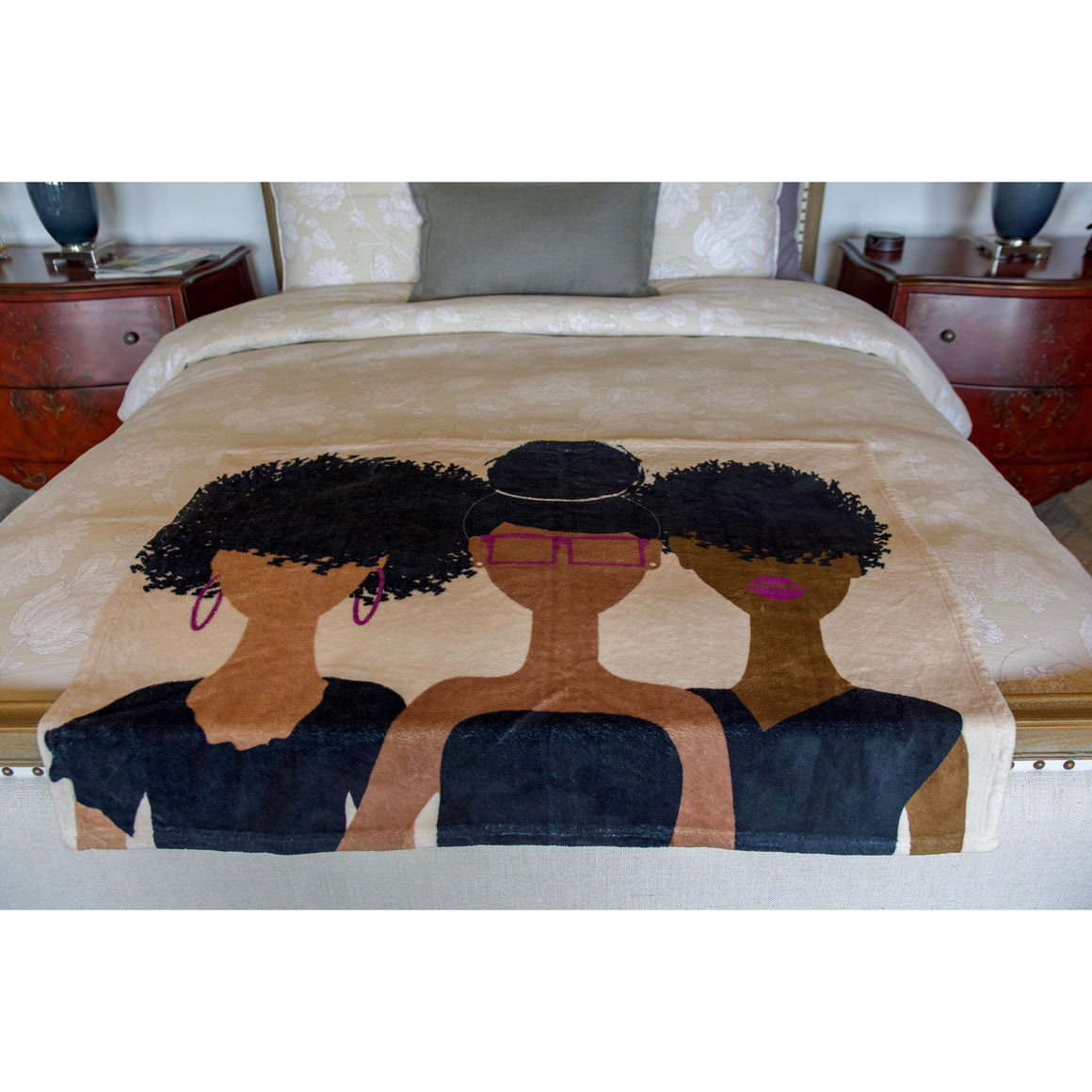 Curly Girl Trio (Royalty) blanket