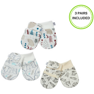 Newborn Anti-Scratch Soft Stay On Mittens (0-6 months) - Essence Marché
