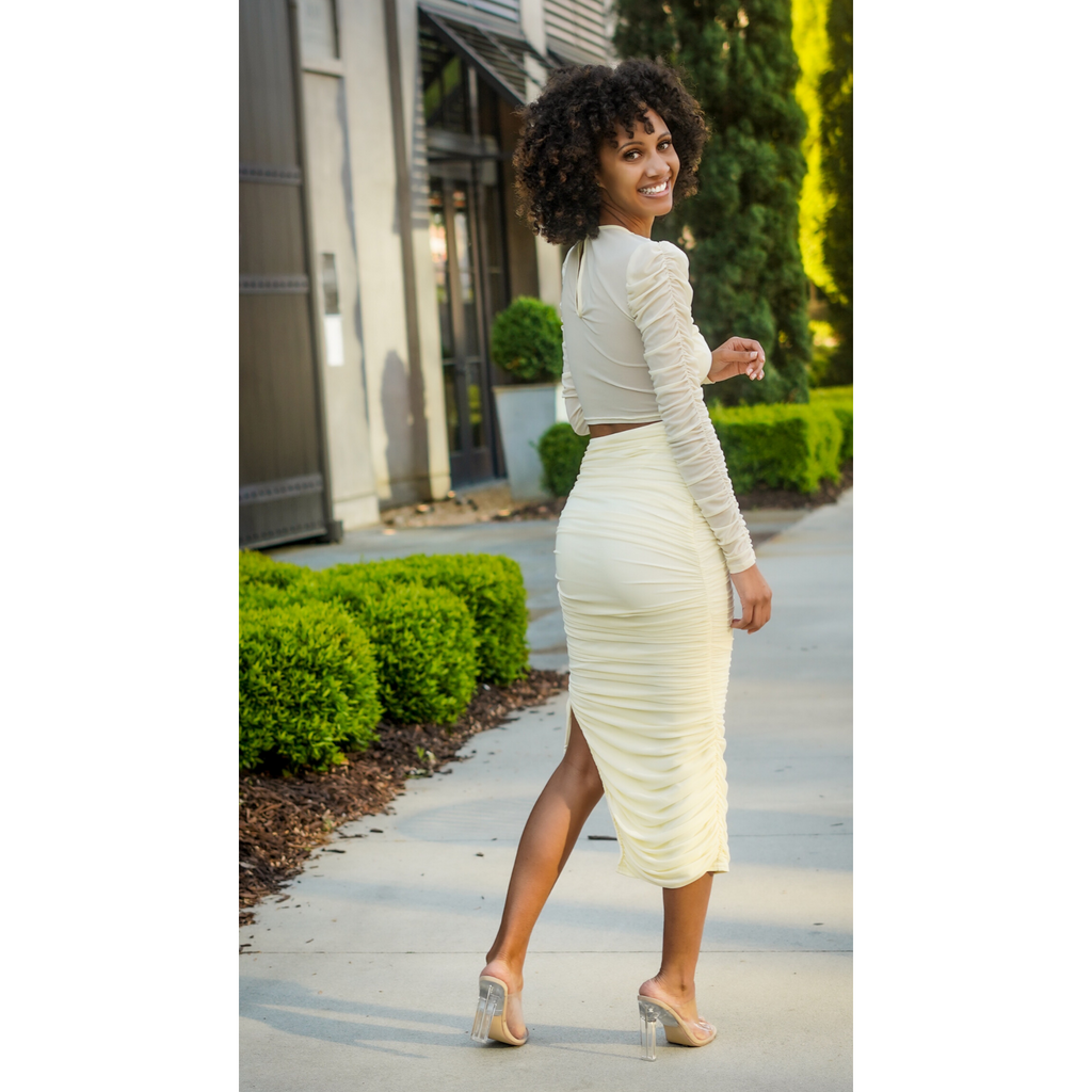 Cream | Kali Midi Skirt Set