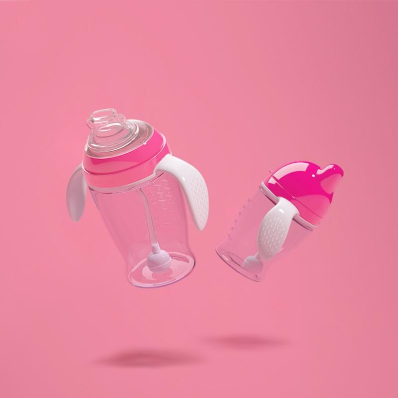 First Transition Antibacterial Bite & Release Sippy Cup with Straw - Essence Marché