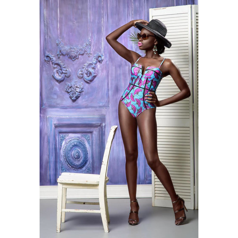 Monroe One-Piece African Print Swimsuit