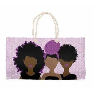 Wrapped in Purple Weekender Tote