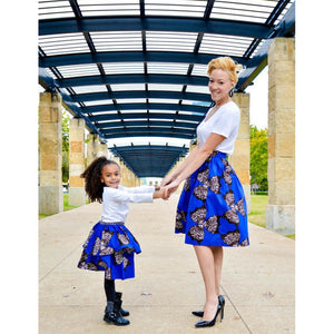 Bella African Print Skirt - Blue (Girls)