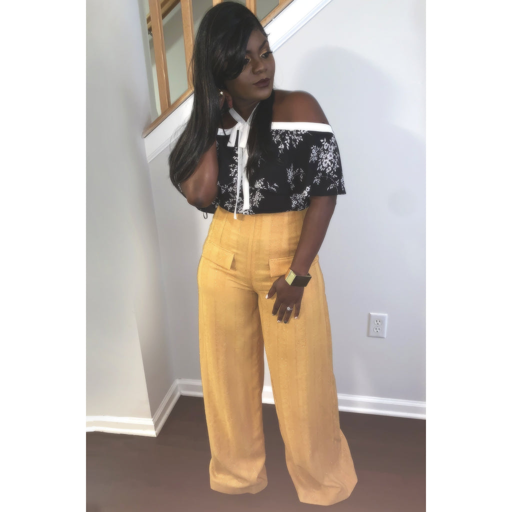 The Wide Leg Pants - Mustard