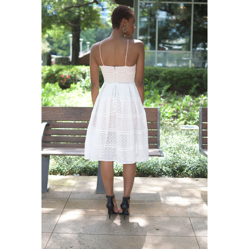 Whenever Wherever LWD | Lace Fit & Flare Dress