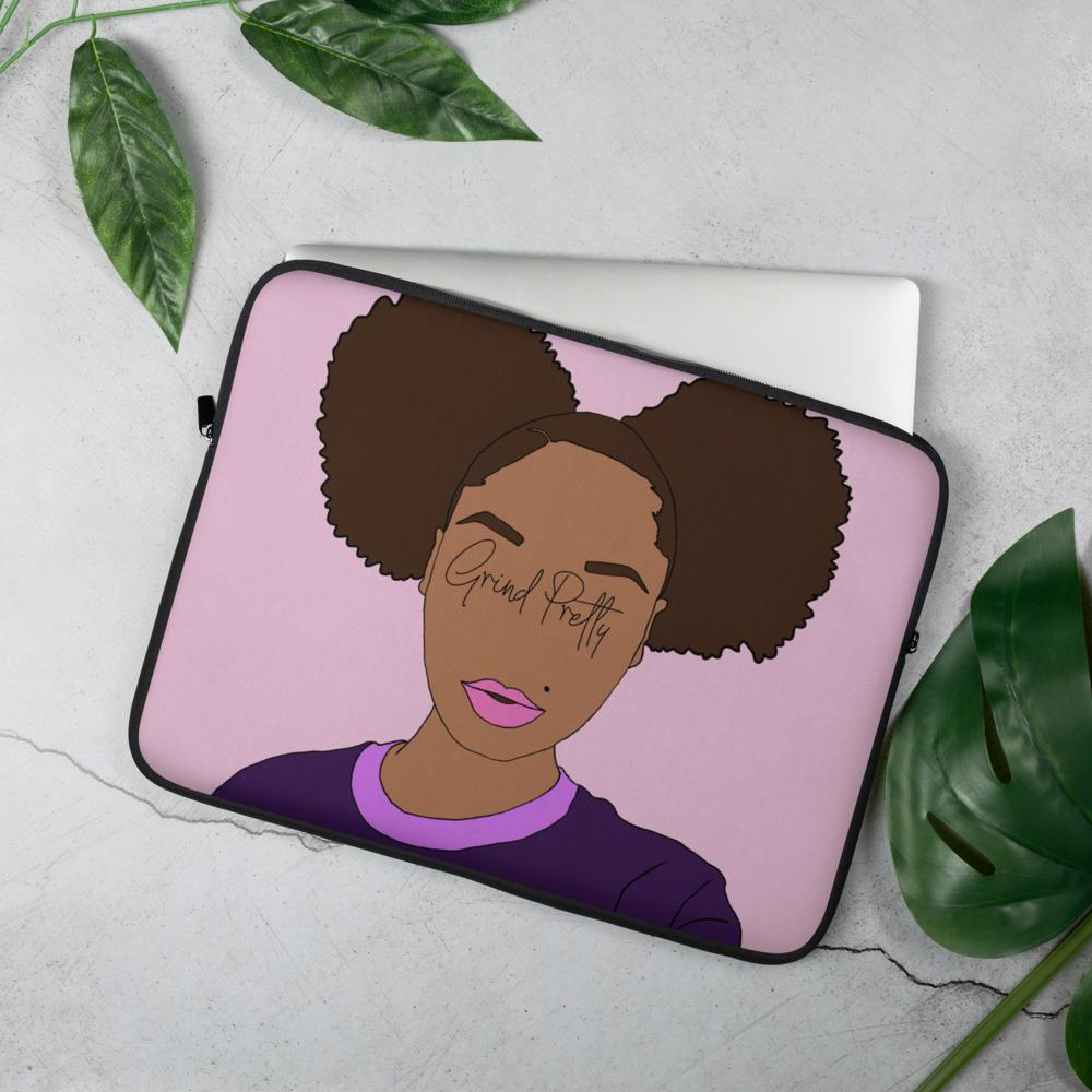 Grind Pretty Laptop Sleeve - Pretty Puffs
