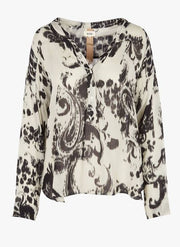 Chabala Black Print Top