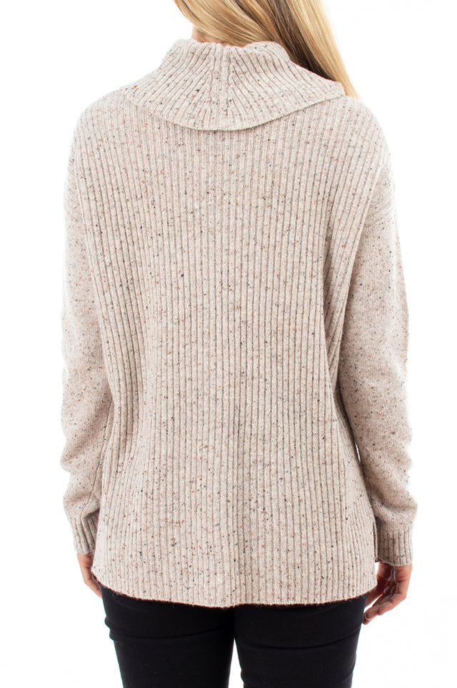 Cowl Neck Donegal Pullover