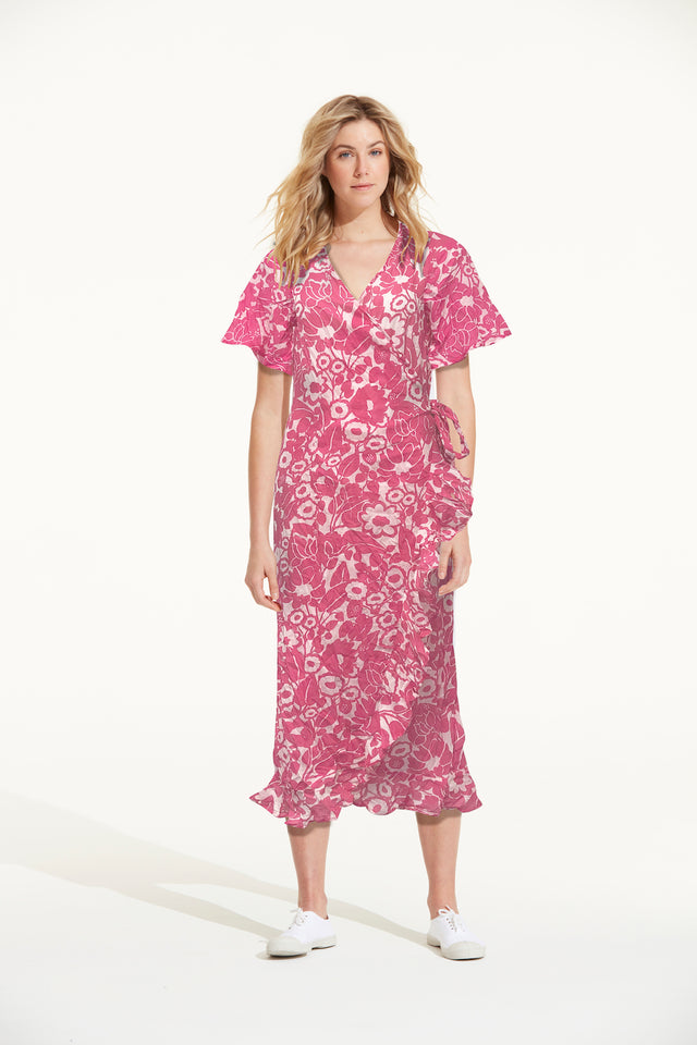 Lemnos Pink Piper Dress