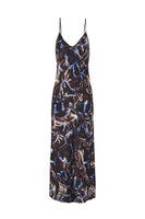 90s Silk Slip Print Dress