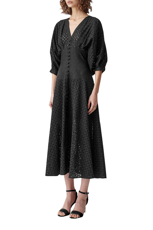 Adaline Cotton Lace Midi Dress
