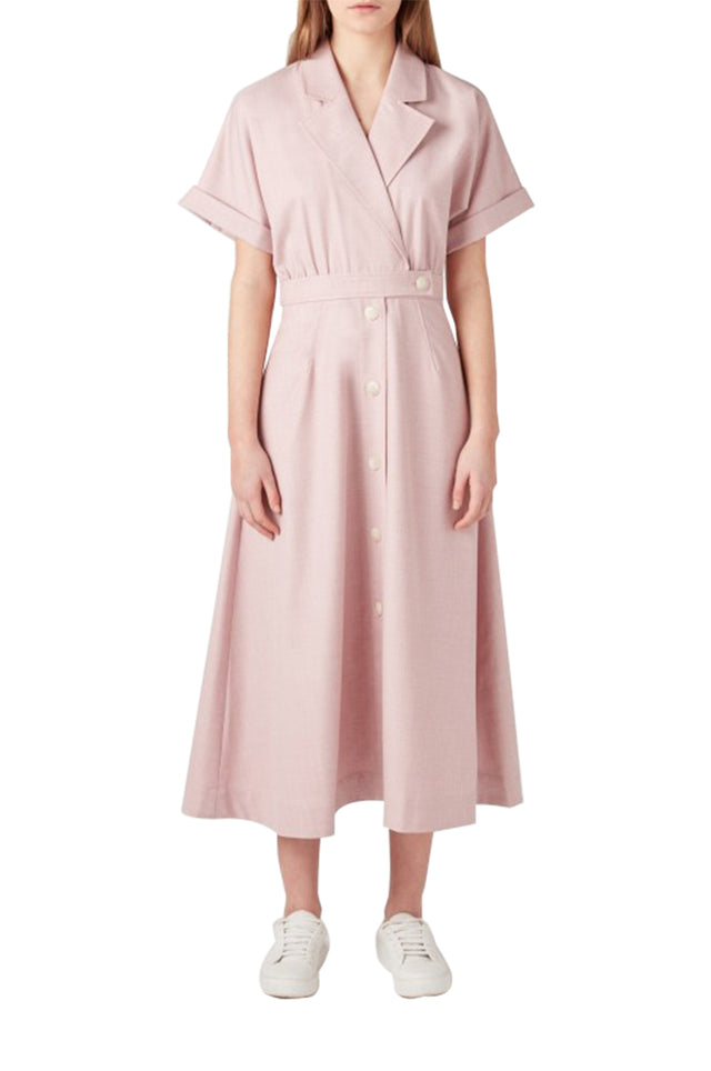 Audrey Belted Shirt Dress