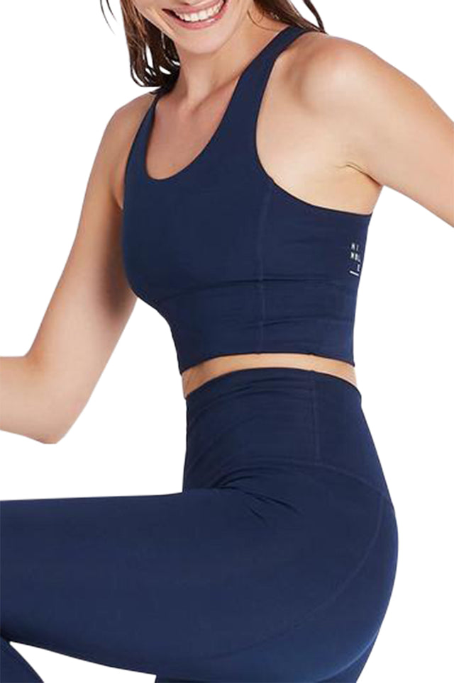 Back In Action Navy Sports Bra