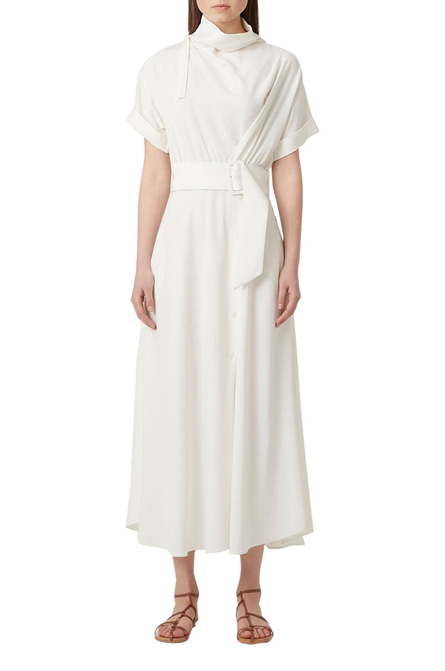 Benito White Midi Dress