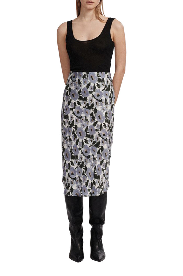 Bias Cut Print Skirt
