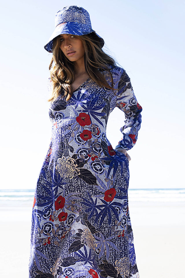 Bora Bora Long Iris Dress