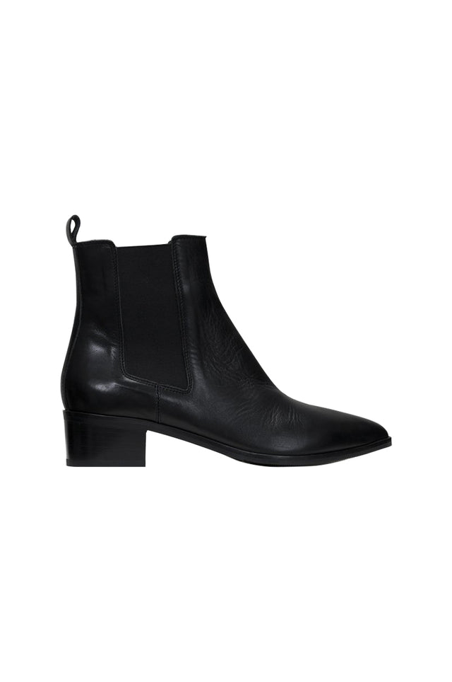Carina Black Leather Boot