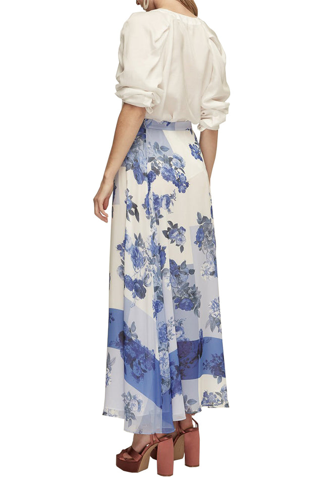 Collage Pleat Maxi Skirt