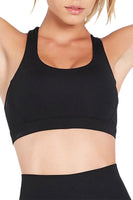 Double Time Black Sports Bra