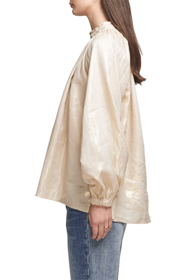 Elisdon Metallic Smock Top