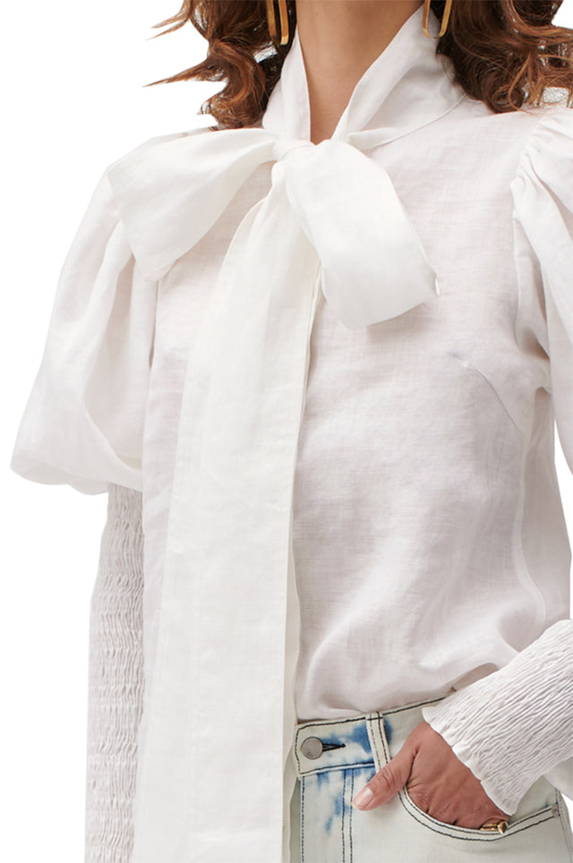 Eloise Ramie Shirred Blouse