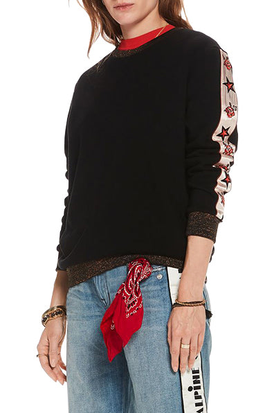 Embroidered Sleeve Sweater
