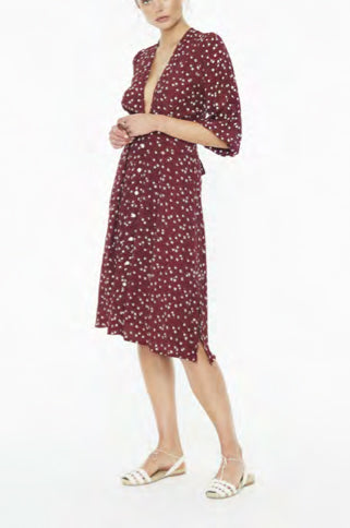 Chloe Betina Floral Midi Dress