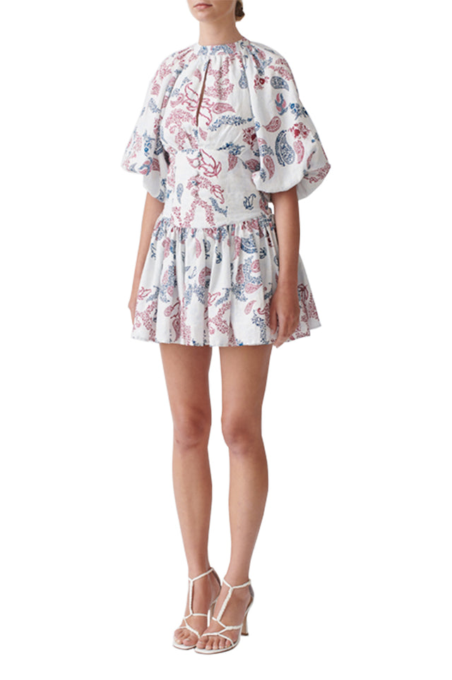 Kirrily Printed Linen Dress
