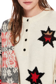 Knitted Star Artwork Pullover