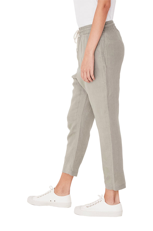 Linen Drop Crotch Pant