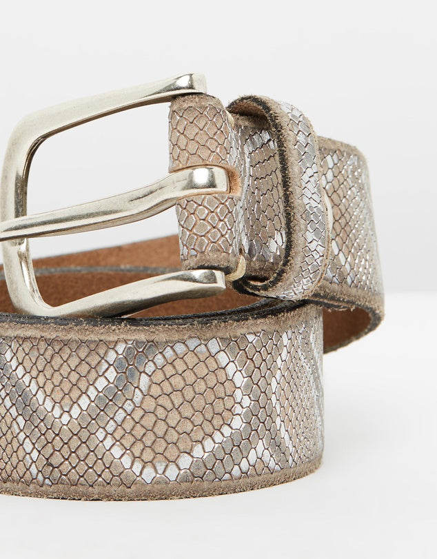 Metallic Snake Belt