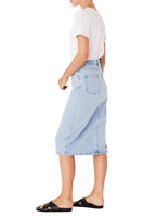 Mid Length Denim Skirt