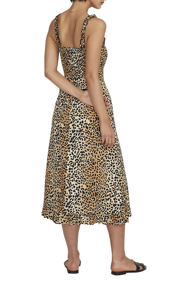 Noemie Animal Midi Dress