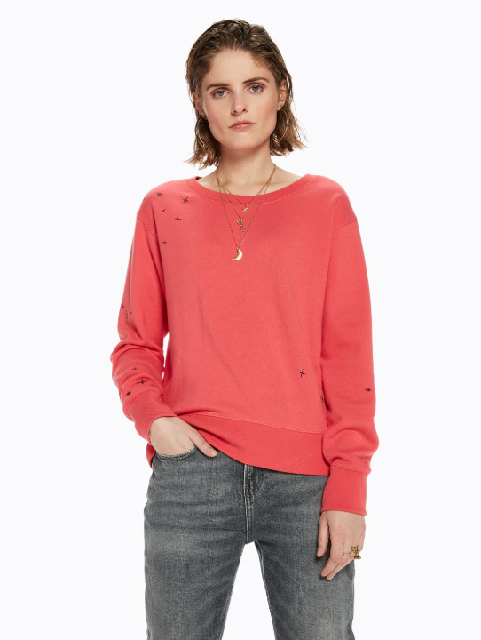 Placement Embroidered Sweatshirt