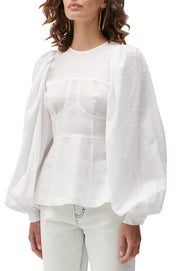 Reagan Linen Crochet Top