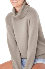 Ribbed Roll Neck Knit