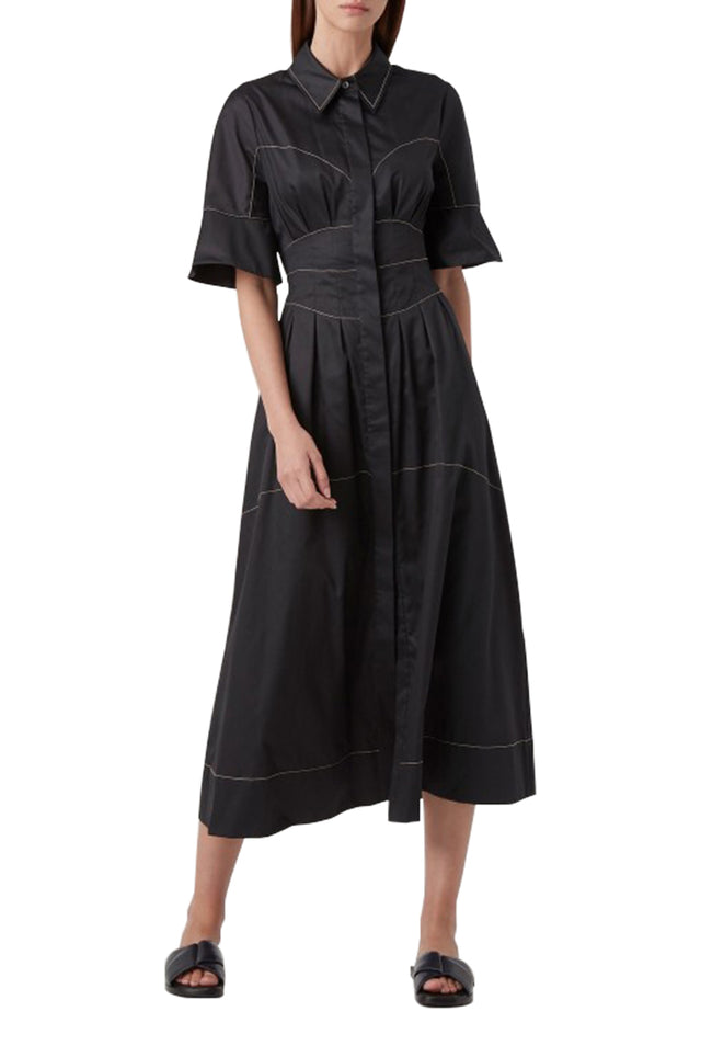 Rubin Contrast Stitch Dress
