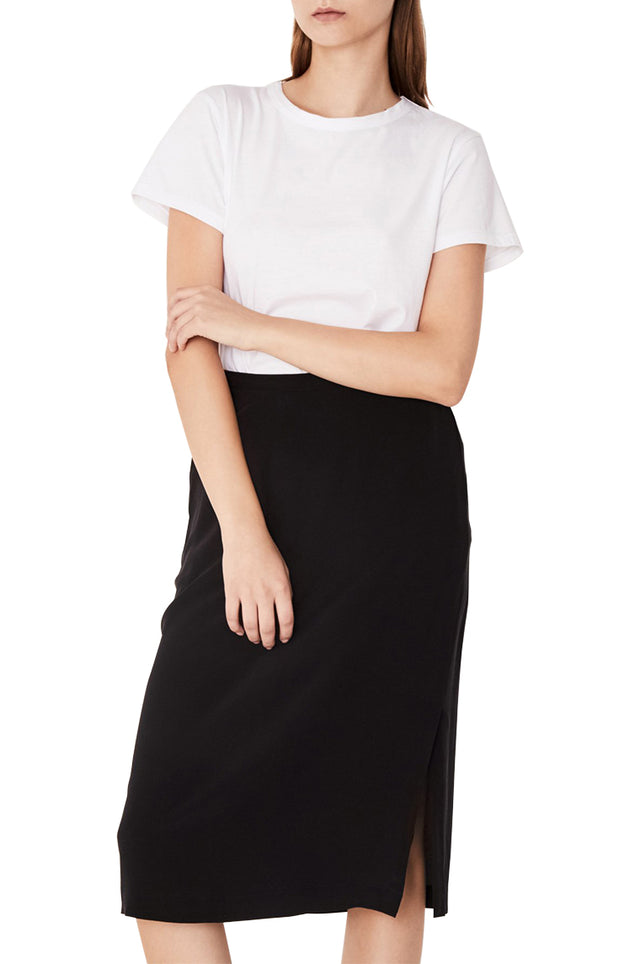 Silk Fluent Midi Skirt
