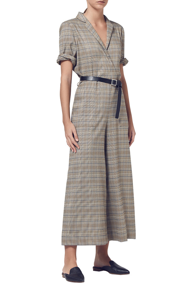 Onassis Check Jumpsuit