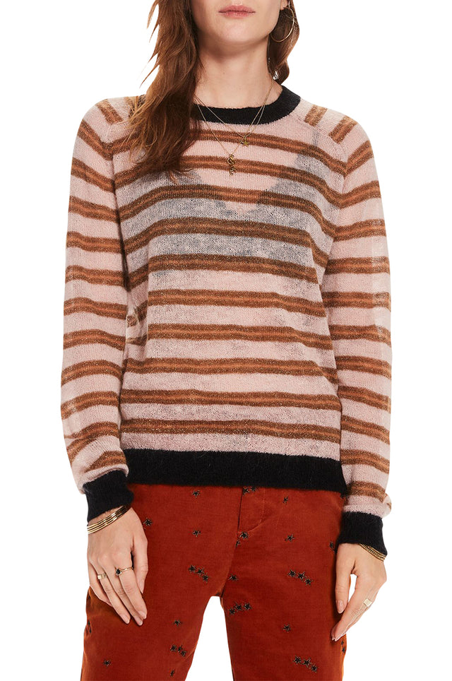 Striped Mohair Pullover