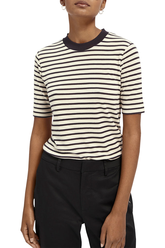 Striped SS Tencel T-Shirt