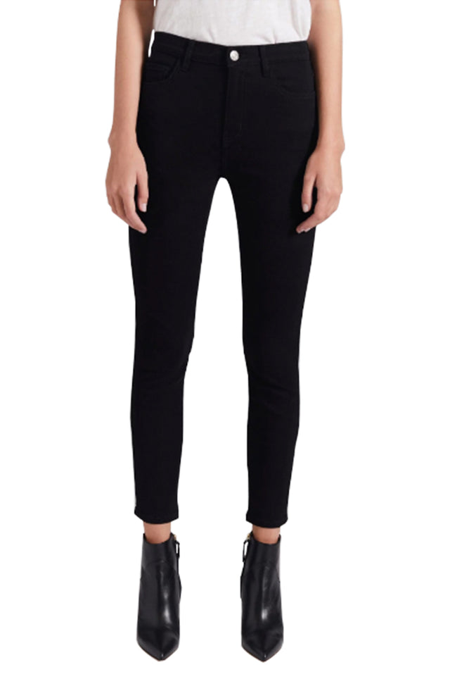 The High Waist Stiletto Black Jean