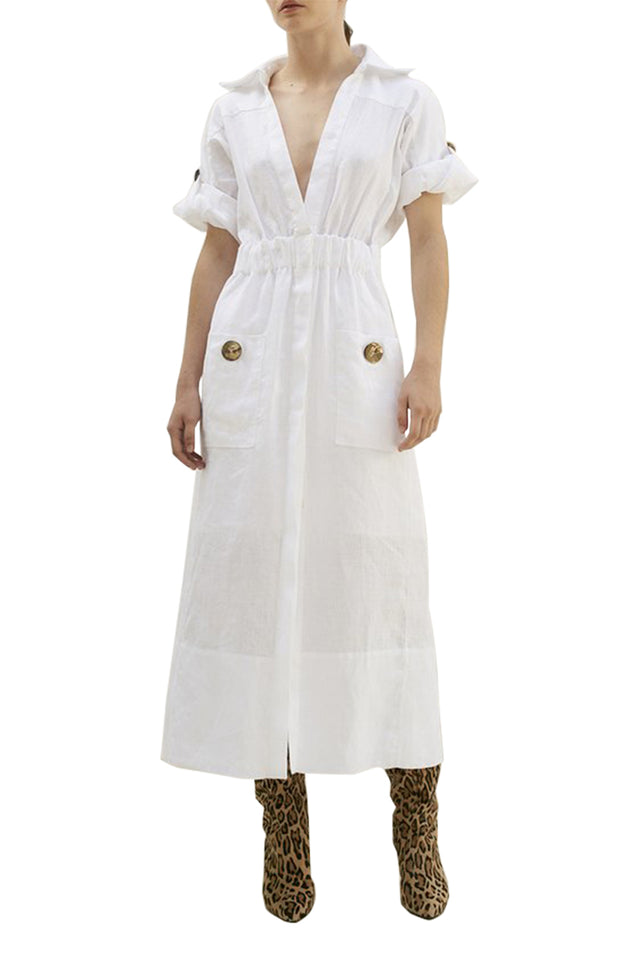 The Linen Shirt Dress