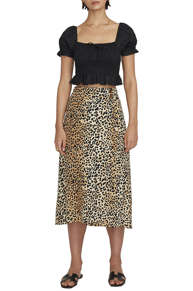 Valois Animal Midi Skirt