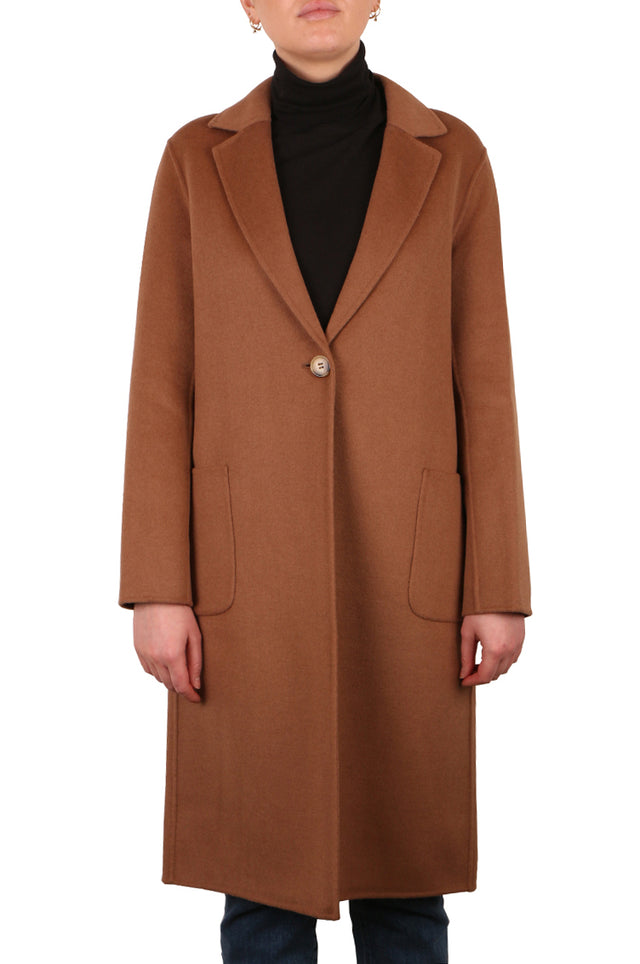 Violetta Dark Camel Coat